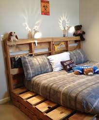 brilliant wooden pallet bed frame ideas for your house throughout inspirations 7