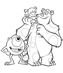 Small Picture Disney Coloring Pages Monsters Inc Coloring Pages