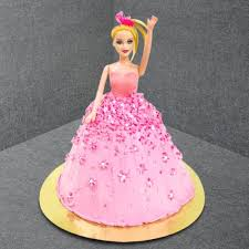 Send Barbie Doll Theme Cake Special For Girls Online By Giftjaipur