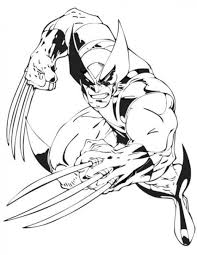 Small Picture Free Wolverine Coloring Pages Mad Wolverine Printable Coloring