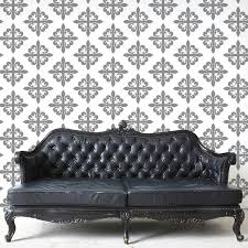 fleur de lis pattern wall stencil for painting