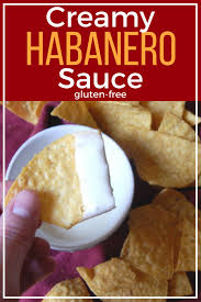 creamy habanero sauce gluten free