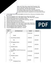 Pendapatan diterima di muka 5. Bengkel Motor Mimi Mimi Selama Bulan Nopember 2014
