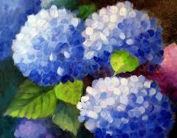 nel everyday painting hydrangeas the bush sold