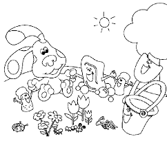 Small Picture Blues Clues Coloring Pages Coloring Pages for Children