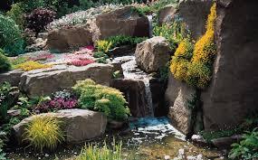 Outdoor Rock Gardens Ideas Waterfall Design Rock Garden Ideas