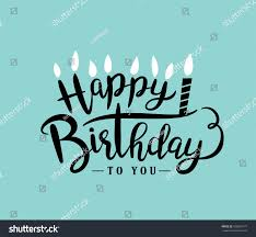 happy birthday design happy birthday greeting card lettering design stok vektör