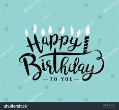 happy birthday design happy birthday greeting card lettering design stok vektör