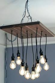 chandelier with edison bulbs decoration chandelier