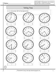 Worksheet : Clock Worksheets To 1 Minute Printable Time Telling ...