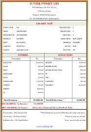 Employee Salary Slip Sample New XLTOOL Salary Slip Printing EMail Software XLTOOL Excel