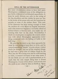 ernest hemingway cultural compass ernest hemingway rdquo annotated page from max eastman s art and the life of action other essays