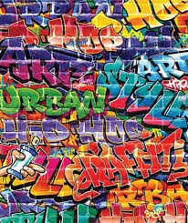 Behang Graffiti Walltastic 245x203 Cm Sinqel