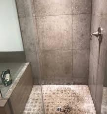 before tile shower