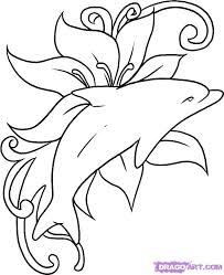 Small Picture 35 best Dolphin And Hawaiian Flower Tattoos images on Pinterest