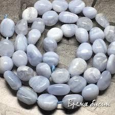 Бусины <b>Галтовка</b> : <b>Агат голубой</b> сапфирин. Галтовка округлая ...