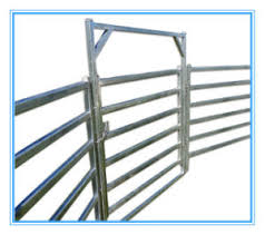 farm fence gate.  Gate Hot Dipped Galvanized Corral Panels Metal Livestock Farm Fence Gate To