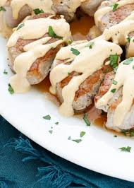 pan fried pork medallions barefeet in