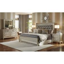 Exceptional Traditional Champagne 6 Piece Queen Bedroom Set   Diva
