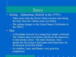 the kite runner by khaled hosseni sources ppt  story setting kabul in the 1970 s takes place after the soviet 3 khaled hosseini