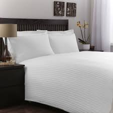 super soft 500 tc full queen size 1 pc duvet cover stripe white by luxurious