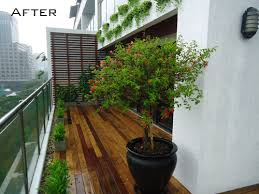 Small Picture Modern Apartment Balcony Garden ideas for small spaces with wooden
