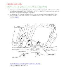 check the transmission fluid in 1999 honda passport v 6