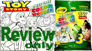 full coloring book review disney toy story crayola color wonder for kids