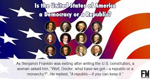 where do the terms democrat and republican come from fact myth is america a republic or a democracy