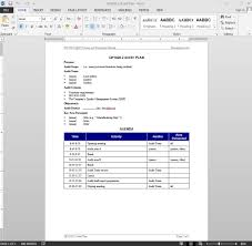 Audit Plan Templates Audit Plan ISO Template 1