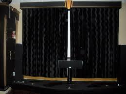 black velvet curtain