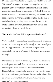 Sseko Designs Mlm When Your Company Actively Goes For The Mlm Model Antimlm