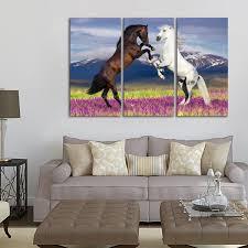 on wild horses wall art with wild horses multi panel canvas wall art elephantstock