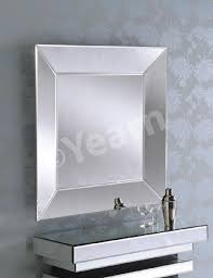 fullsize of pleasing angled side square frameless bevelled art deco mirror angled side square frameless bevelled