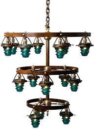 blue glass chandelier vintage glass chandelier insulator lights clear blue 3 tier metal blue glass chandelier