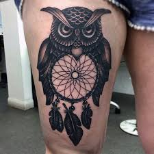 Dream Catcher Tattoo On Thigh 100 Dreamcatcher Tattoos For Men Divine Design Ideas 16