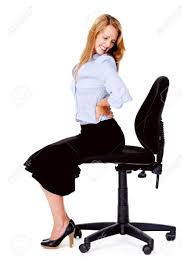 back pain chairs. Business Woman Has Back Pain From Sitting In Office Chair Stock Photo - 13025477 Chairs F