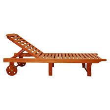 Vifah Single Chaise Lounge Brown Tar