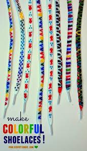 diy colorful shoe laces