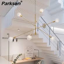 modern <b>nordic led chandelier</b> black