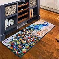 ustide vintage kitchen mats thicken rubber back mat black floor runner non slip kitchen rug