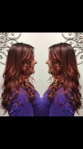 Beautiful Red Beachy Waves Balayage Hair