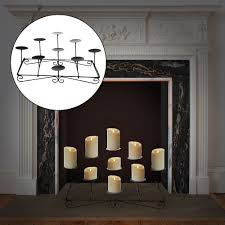 fireplace mantle candle holder