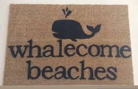 Whalecome Beaches Doormat by JustSmileAlways on Etsy https://www ...