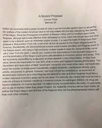 modest proposal essay update this is the students controversial ...
