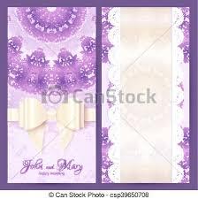 Purple Vintage Lacy Wedding Invitation Template