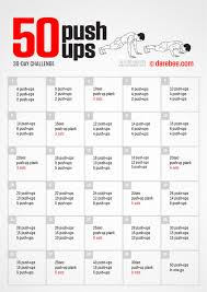 Perfect Pushup Exercise Chart Push Ups Guide