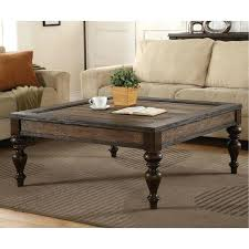 weathered oak brown square coffee table furniture bordeaux with drawers
