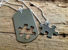 puzzle piece necklace you are my