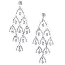 elegant and stylish pave set diamond chandelier earrings
